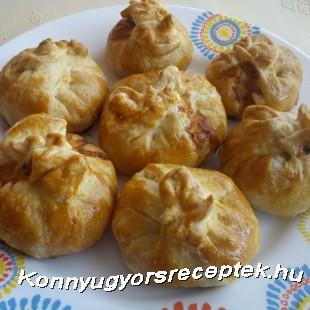 Tésztabatyuban sült fűszervajas csirke recept
