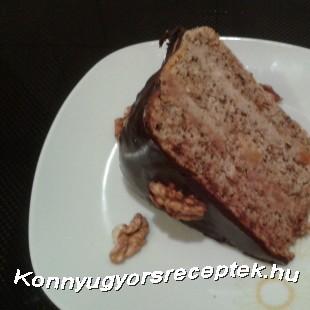 Diótorta Rumos Gesztenye Krémmel recept