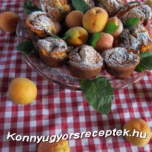 Kajszis muffin gluténmentesen recept