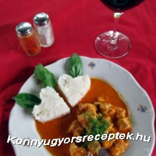Balkán csirkemell ajvárral recept