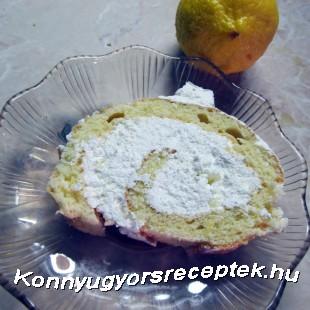 Citromhabos tekercs recept