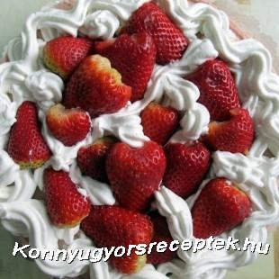 Eper torta recept