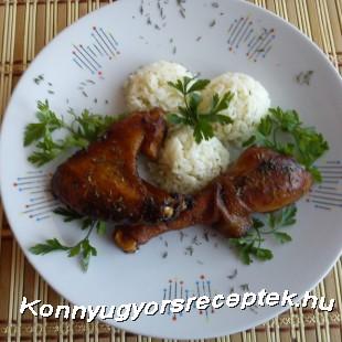 Kakukkfüves csirkesült párolt rizzsel recept
