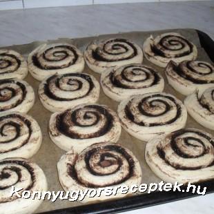 Kakós csiga ( hajtogatott vajas tésztából)  recept