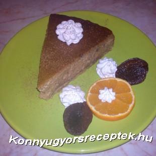 Narancsos-szilvás sajttorta fahéjas tejszínhabbal recept