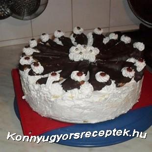 Franciakrémes torta  recept