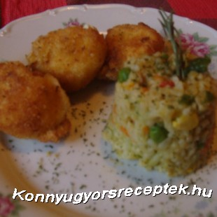 Sajtpuffancs zöldséges bulgurral recept