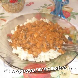 Gombapaprikás recept