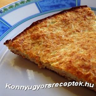 Diétás cukkinis-vaníliás pite recept