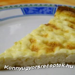 Diétás édes túrós lepény recept