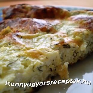 Diétás sajtos-túrós lepény recept