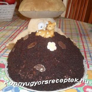 Csokis banánkrémes vakondtúrás torta recept