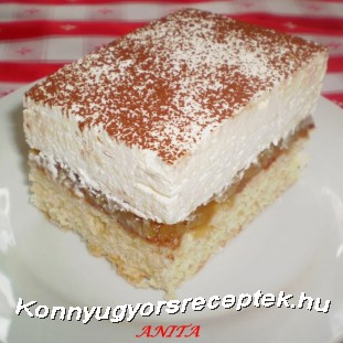 FORDÍTOTT ALMÁS SÜTI recept