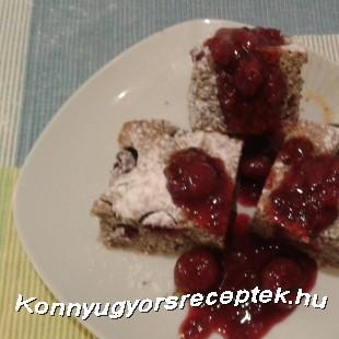 Meggyes -mákos kevert süti recept