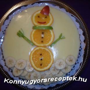 Narancsos diógubatorta recept
