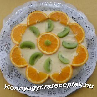Narancsos diótorta recept