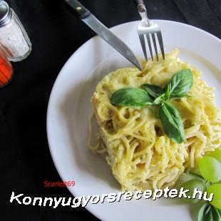 Zöld pestós tészta recept