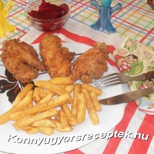 Pácolt fűszeres csirke mell  recept