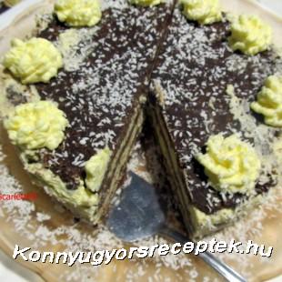Keksztekercs torta recept