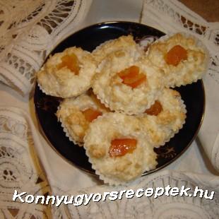 Narancsos kókuszcsók recept