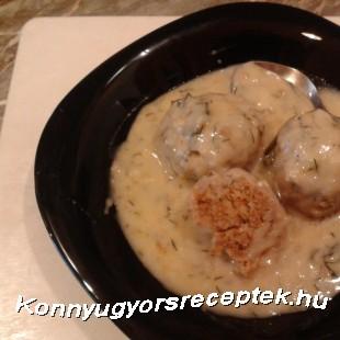 Kapros húsgombóc  recept