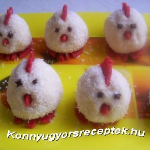 Rafaellós kókuszos pipik recept
