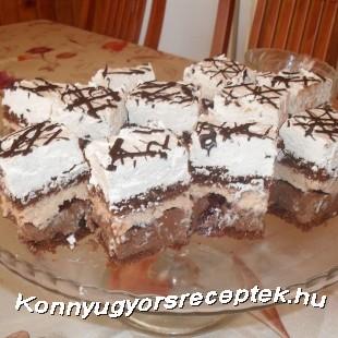Rumos meggyes csokis kocka recept