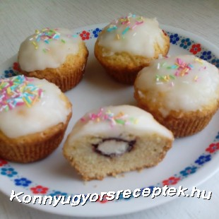Túró rudis-kókuszos muffin recept