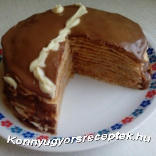 Zserbó palacsinta-torta recept