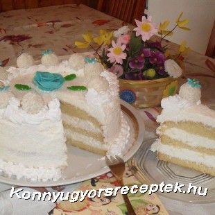 Raffaelló torta recept