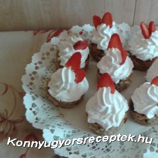 Habos diós epres  mini tortácskák  recept