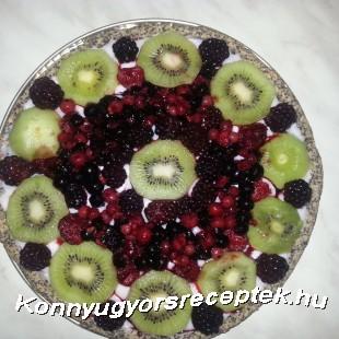 Gyümölcstorta diétásan recept