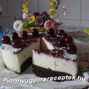 Márványos-fehér csokis sajttorta recept