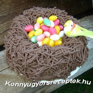 Fészek torta recept