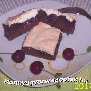 Habcsókos csokis meggyes piskóta !   recept