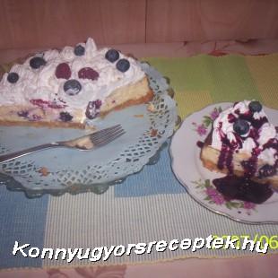 Áfonyás túrós sajt torta recept