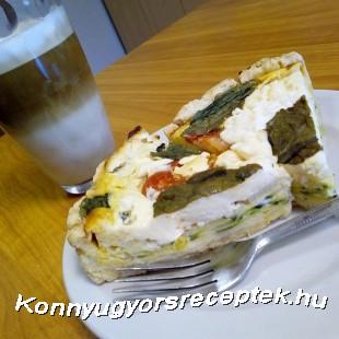 Cukkinis-mascarpones quiche, avagy francia pite recept