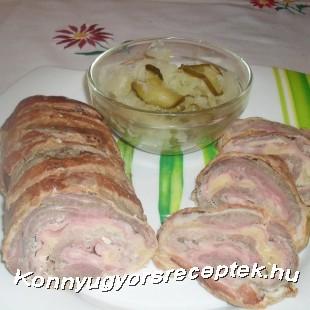Cordon bleu tekercs recept