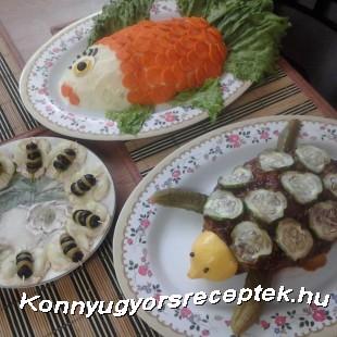 Fasirozott, krumplipürével és savanyúságal (Teknősbéka, hal és darázs) recept