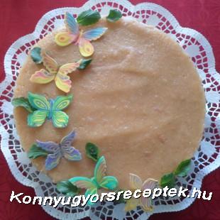 Sütés nélküli pillangós torta recept