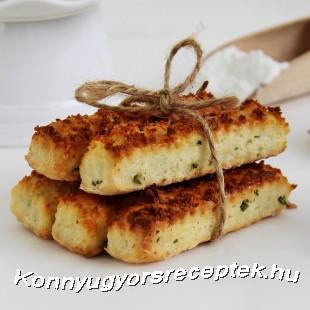 Túrós-snidlinges rúd recept