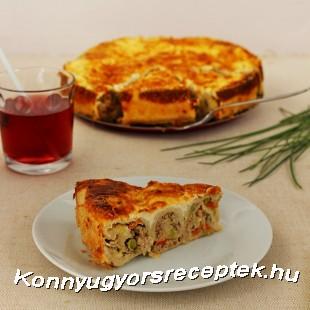 Palacsintatorta húsos-zöldséges töltelékkel recept