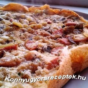 Diétás gombás-zöldpaprikás omlett recept