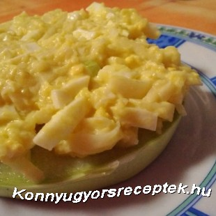 Diétás mimóza tojássaláta recept
