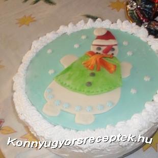 Karácsonyi csoki torta recept