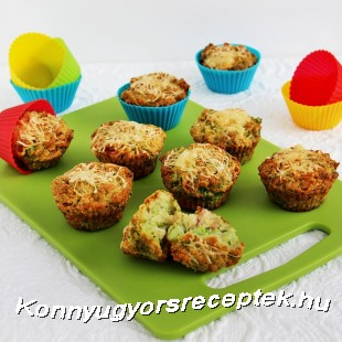 Brokkolis-sajtos mufin recept