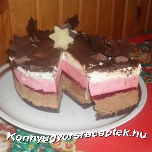 Csoki-málna mousse  recept