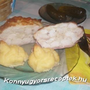 Sajtos csirkemell muffin recept
