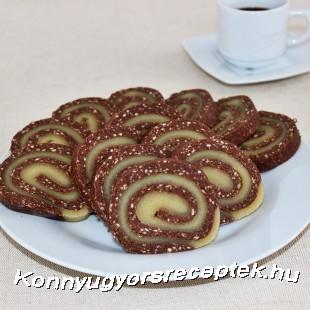 Marcipános keksztekercs recept