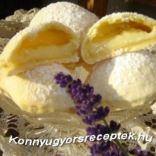 Levendulakrémes párnácskák recept